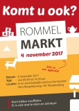 Flyer rommelmarkt 4 november 2017